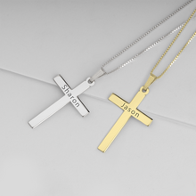Load image into Gallery viewer, Delicate Engraved Cross Necklace