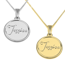 Load image into Gallery viewer, Disc Name Necklace