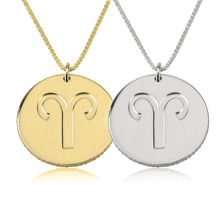 Load image into Gallery viewer, Disc Zodiac Necklace