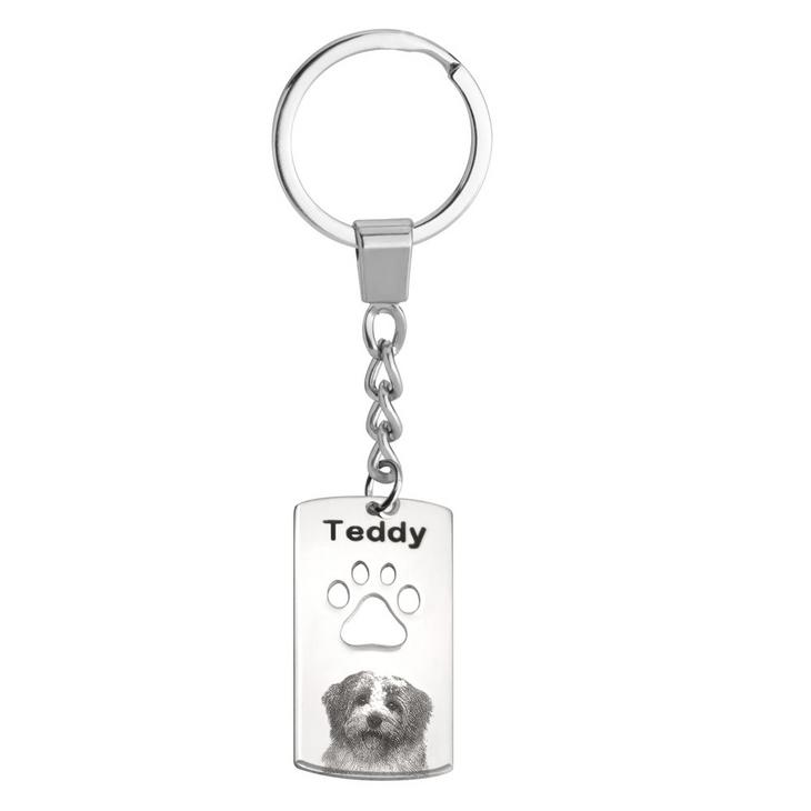 Dog Picture Keychain