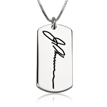 Load image into Gallery viewer, Dog Tag Handwriting Necklace