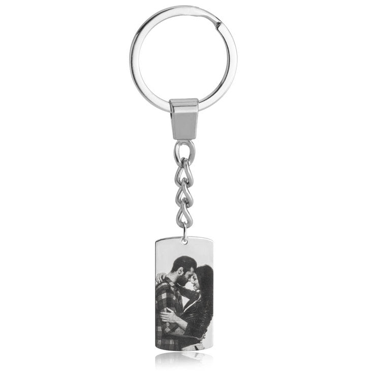 Dog Tag Picture Key Chain