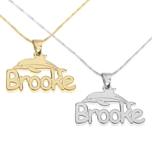 Load image into Gallery viewer, Dolphin Name Necklace