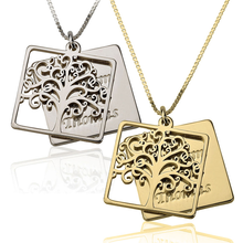 Load image into Gallery viewer, Engraved Family Tree Necklace