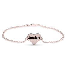 Load image into Gallery viewer, Engraved Heart Bracelet