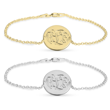 Load image into Gallery viewer, Engraved Monogram Bracelet