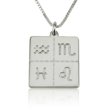 Load image into Gallery viewer, Engraved Zodiac Necklace
