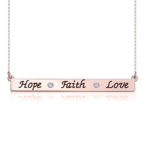 Faith-Hope-Love Necklace