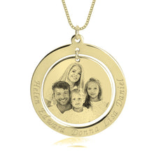 Load image into Gallery viewer, Family Picture Necklace with Names
