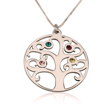 Load image into Gallery viewer, Family Tree Birthstone Necklace