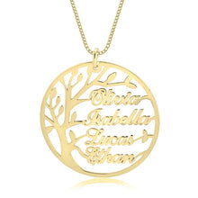 Load image into Gallery viewer, Family Tree Necklace with Names