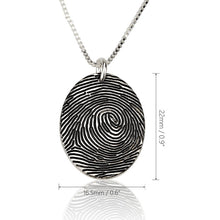 Load image into Gallery viewer, Fingerprint Necklace