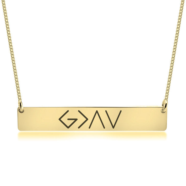 God Is Greater Than the Highs and Lows Necklace