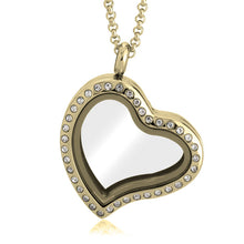 Load image into Gallery viewer, Gold Heart Floating Locket