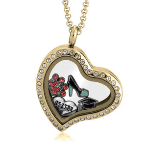 Gold Heart Floating Locket