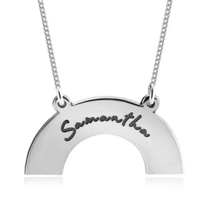 Half Circle Engraved Necklace