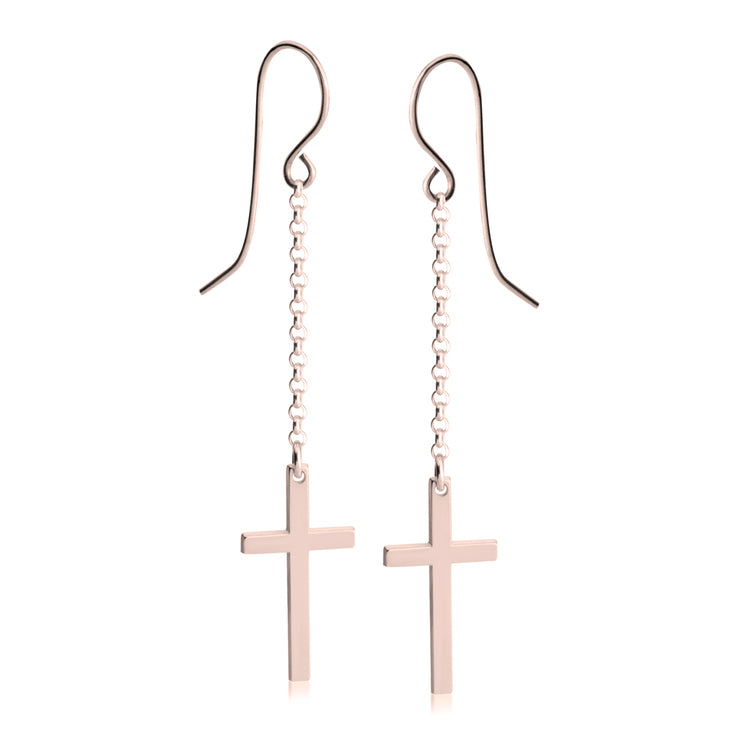 Hanging Cross Earrings