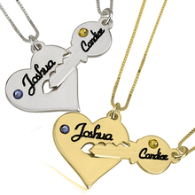 Load image into Gallery viewer, Heart and Key Necklace