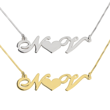 Load image into Gallery viewer, Heart Initials Necklace