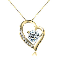 Load image into Gallery viewer, Heart Necklace with Zirconia