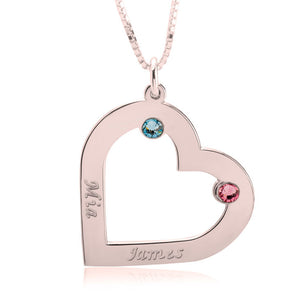 Heart Pendant for Couples