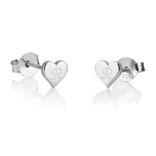 Load image into Gallery viewer, Heart Stud Earrings