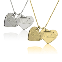Load image into Gallery viewer, I Love You In Braille Heart Necklace