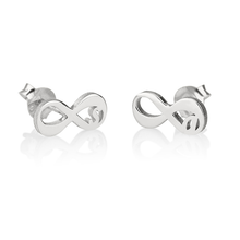 Load image into Gallery viewer, Infinity Initial Earrings