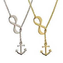 Load image into Gallery viewer, Infinity Anchor Necklace