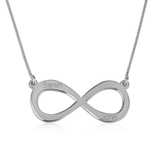 Load image into Gallery viewer, Infinity Necklace with Two Names