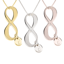 Load image into Gallery viewer, Initial Infinity Necklace