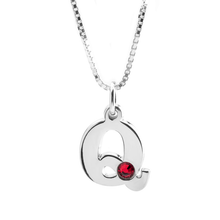Load image into Gallery viewer, Initial and Birthstone Necklace