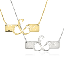 Load image into Gallery viewer, Initials Love Bar Necklace