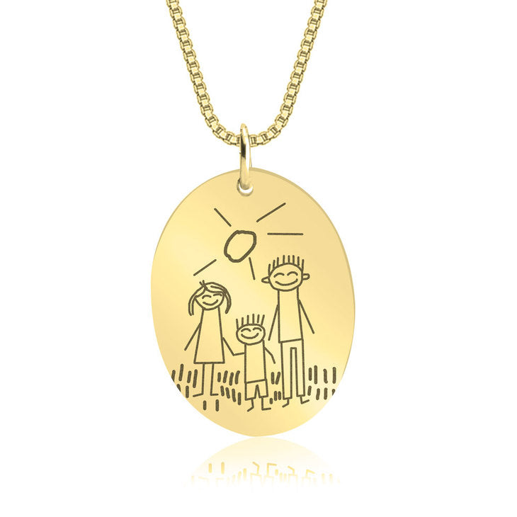 Kids Drawing Necklace