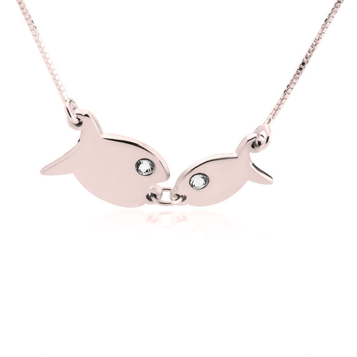 Kissing Fish Necklace