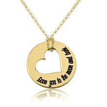 Load image into Gallery viewer, Love You To The Moon and Back Necklace