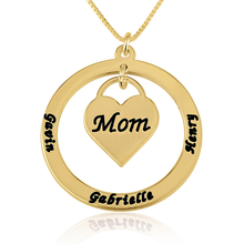 Load image into Gallery viewer, Mom Heart Necklace