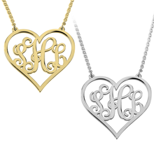 Load image into Gallery viewer, Monogram Heart Necklace