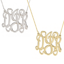 Load image into Gallery viewer, Monogram Initial Necklace