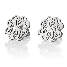 Load image into Gallery viewer, Monogrammed Earring Studs