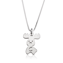 Load image into Gallery viewer, Moose Initial Necklace