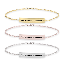 Load image into Gallery viewer, Morse Code Bracelet