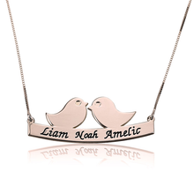 Load image into Gallery viewer, Mother Bird Necklace with Engraved Names