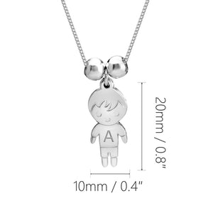 Mother Necklace with Boy & Girls Charms