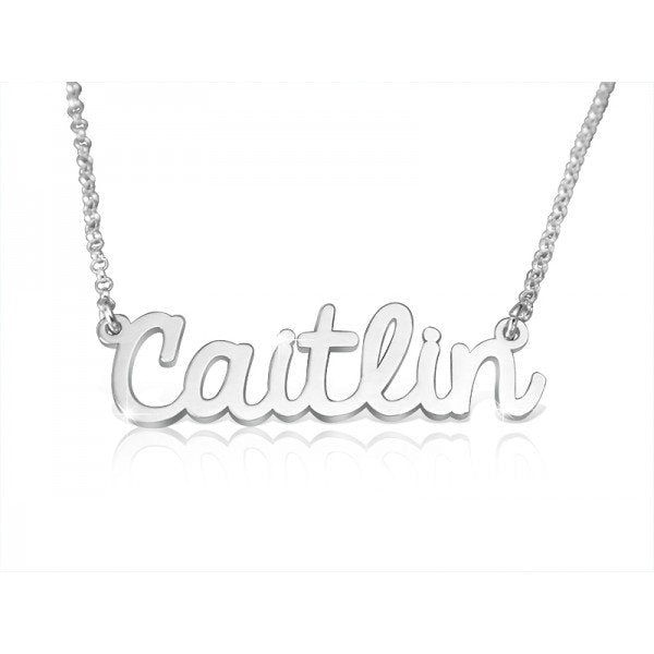 Modern Cursive Name Necklace