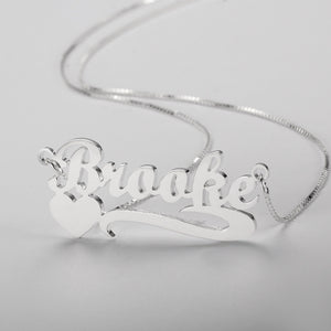 Shooting Heart Name Necklace