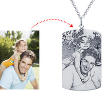 Load image into Gallery viewer, Dog Tag Photo Necklace