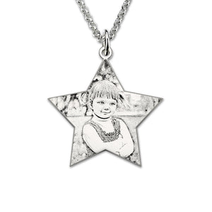 Star Photo Necklace