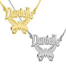 Load image into Gallery viewer, Name Necklace with Butterfly