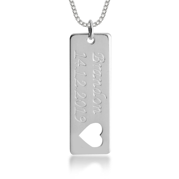 Nameplate Bar Necklace